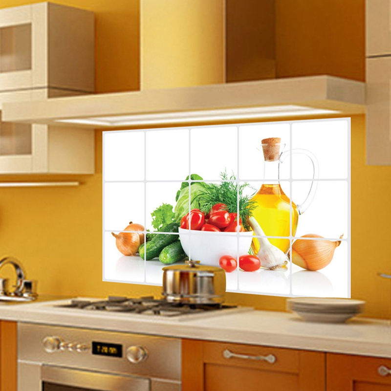 Kitchen Oilproof Removable Wall Stickers Art Decor Home ...