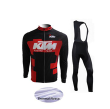 Ktm Cycling Jersey winter warm wool Ropa Ciclismo MTB maillot bicycle clothing 2018 men's mountain bike clothing 9D gel cushion
