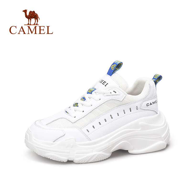 CAMEL Women Spring New Fashion Casual Shoes Women Leather High Platform Retro Ins Shoes For Ladies