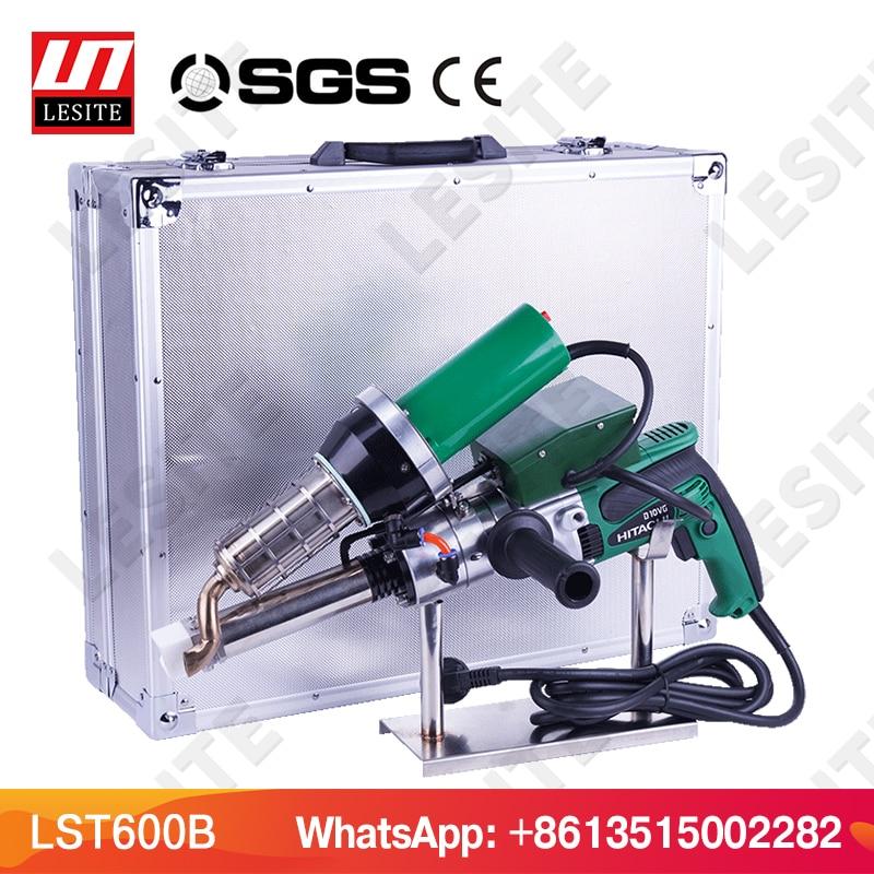 LESITE LST600B pistola de soldadura de extrusión de plástico para la soldadura revestimientos hdpe