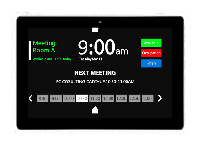 10.1 inch Android PoE Wall mount tablet with LED bars for conference meeting room (Rockchip 3288,2GB/8GB, wifi, RJ45,bluetooth)