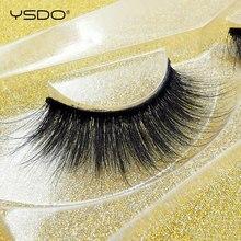 лучшая цена YSDO 1 pair eyelashes 3d mink 100% dramatic natural hair false lashes long fluffy fake eyelashes Reusable cilios eye lashes #30