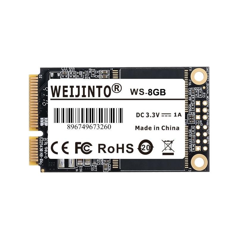 WEIJINTO 8pcs mSATA SSD 64GB 16GB 32GB 8GB Internal Solid State Drive Disk Disc Disks Msata 64GB
