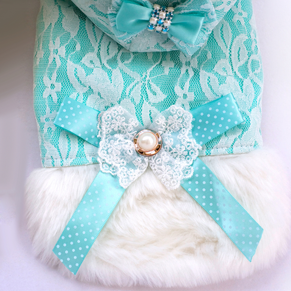 Winter Autumn Sexy Lace Warm Pet Cat Dog Apparel Vest Clothes Gift Comfortable