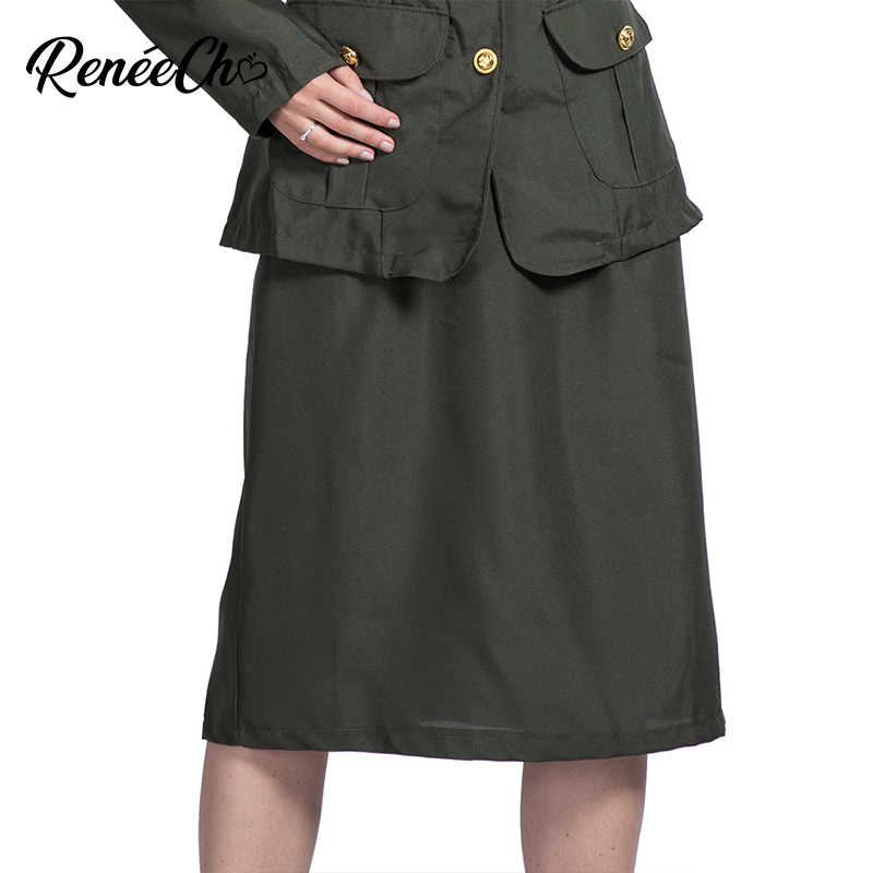 137436384b2 Reneecho Women Costume WW2 Army Girl Costume Halloween Costume For Adult  Military General Cosplay Sexy Wartime Officer Costume