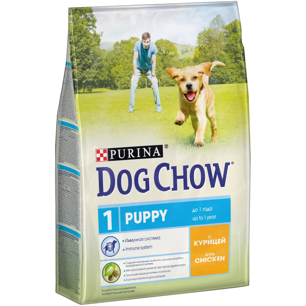 Dog Chow dry food for puppies up to 1 year old with chicken, 10 kg.