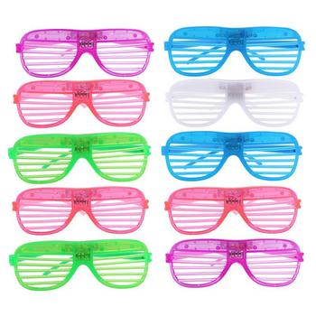 12 Pairs Of Plastic Shutter Glasses With Lightweight Frame For Halloween And Club Party