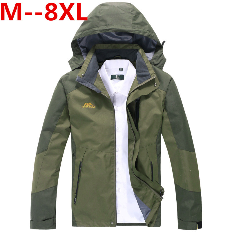 plus 10XL 8XL 6XL 5XL 4XL Mens Jackets Waterproof Spring Hooded Coats Men Women Outerwear Army Solid Casual Brand Male Clothing