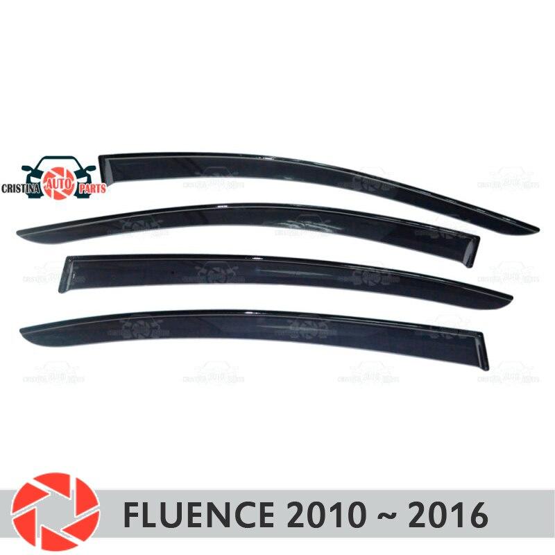 Deflector janela para Renault Fluence 2010 ~ 2016 chuva defletor sujeira proteção styling acessórios de decoração do carro de moldagem