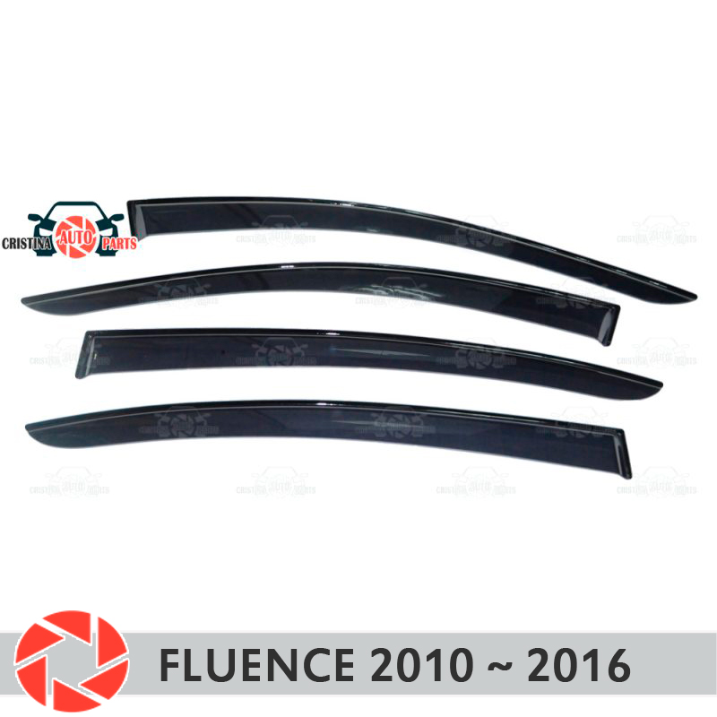 Window deflector for Renault Fluence 2010~2016 rain deflector dirt protection car styling decoration accessories molding