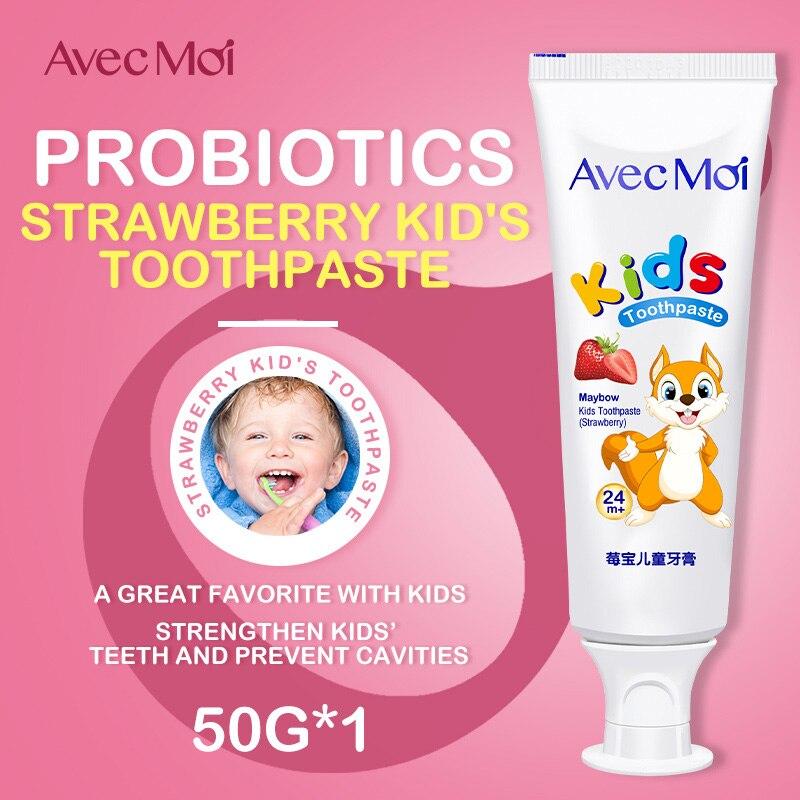 Dentifrice Avec Moi pour enfants, dentifrice antibactérien probiotique, goût délicieux Avec un ingrédient sûr, blanchir délicatement les dents