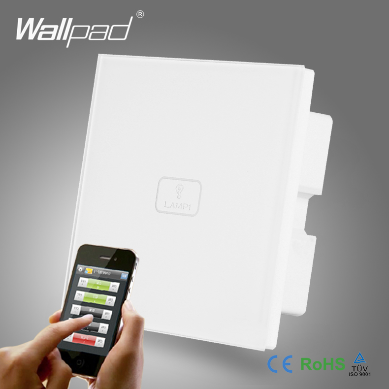 App Wireless WIFI Control Smart Home Wallpad White Crystal Switch 110-250V 1 Gang Touch and Remote WIFI Control Light Switch smart home us black 1 gang touch switch screen wireless remote control wall light touch switch control with crystal glass panel