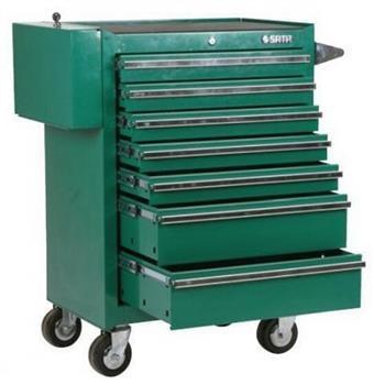 Sata tool trolley with 7 shelves, S95107 b shelves