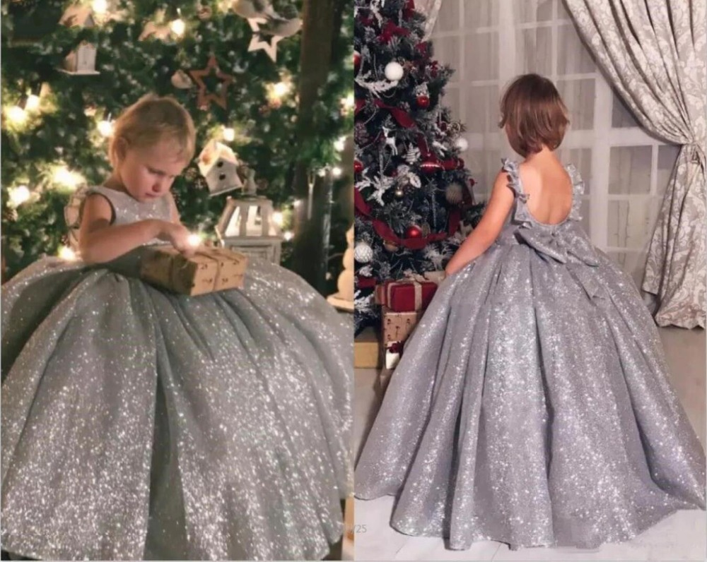 Shiny Sequins Little Princess Ball   Flower     Girl     Dress   Birthday Party Pageant Gown Party Communion   Dress   Pageant Gown