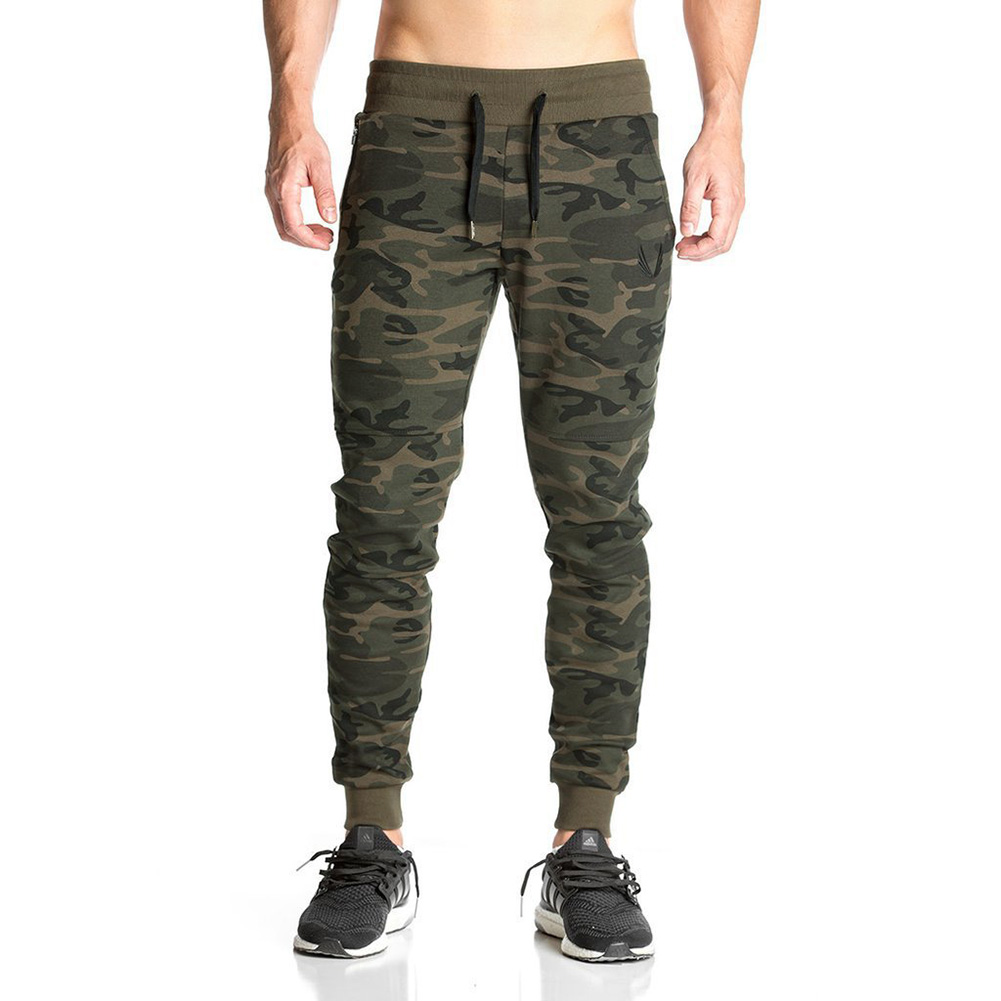 2017 NEW sweatpants Mens gasp workout bodybuilding clothing casual camouflage sweatpants ...