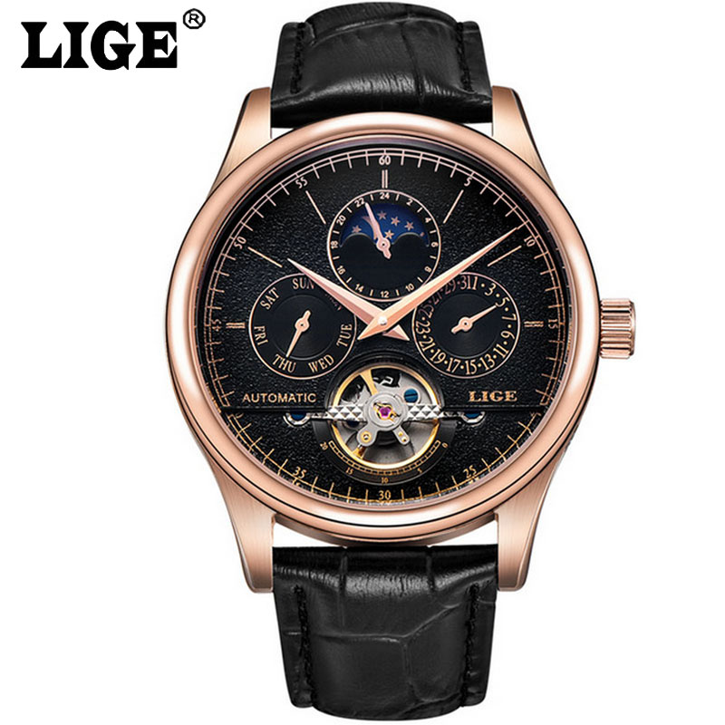 Skeleton Business Wristwatch Gold Automatic Mechanical Watch Tourbillon Men Watches Leather Sport Clock relojes hombre mce luxury brand skeleton square mechanical watches leather gold automatic watch men waterproof casual wristwatch reloj hombre