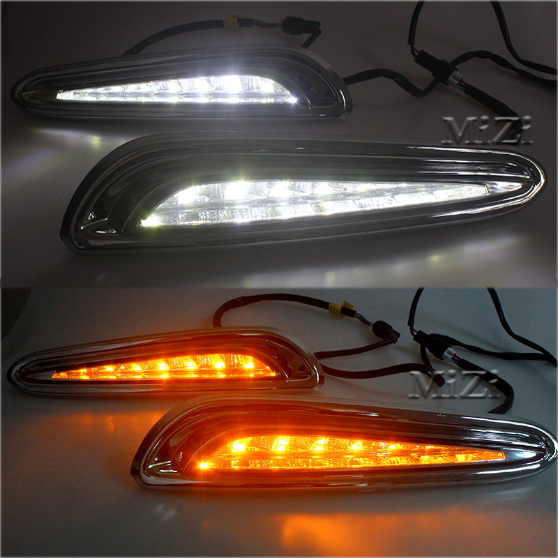 Daytime Running Light With Turn Light Function For MAZDA 3 2010 2013 High Quality Car Special