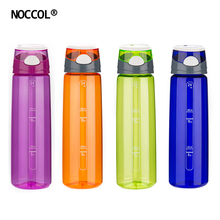 NOCCOL 700ml New BRA Free Sports Water Bottle Eco Friendly Plastic Kettle Drinkware High Quality Heath