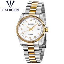 Top Luxury Brand CADISEN Army Military Sport Wristwatch Men Quartz Date Clock Stainless Steel Waterproof Watch Relogio Masculino
