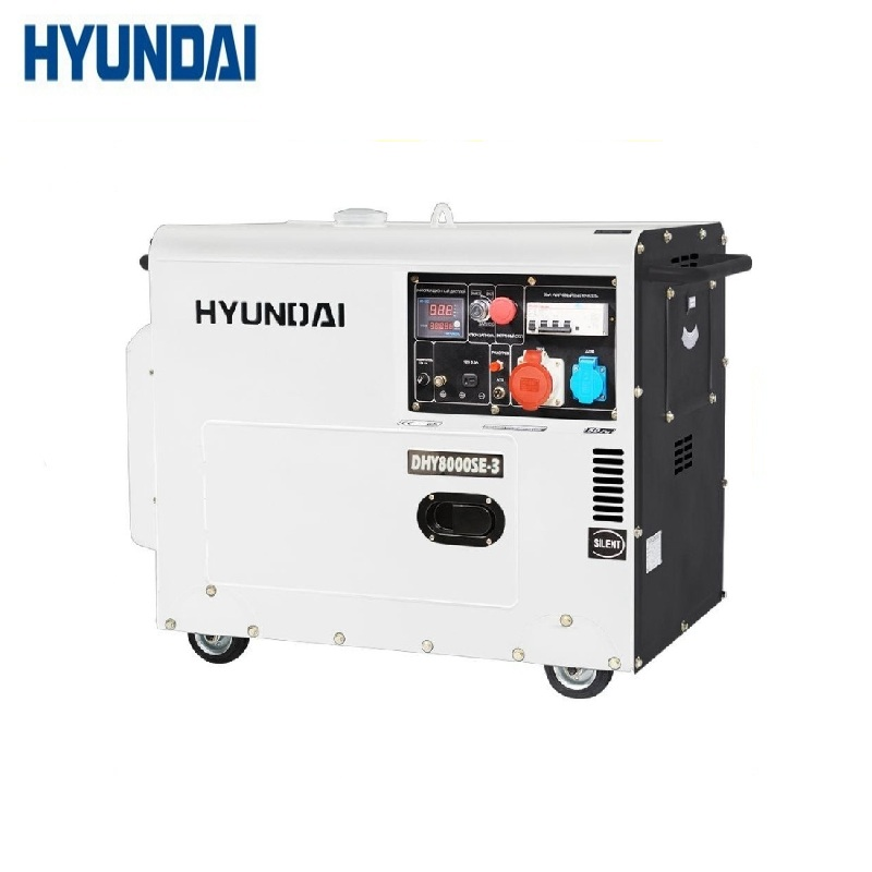 Diesel generator Hyundai DHY8000SE-3 Power home appliances Backup source during power outages Diesel power stations genset generator diesel engine parts 12v 24v actuator 3044190