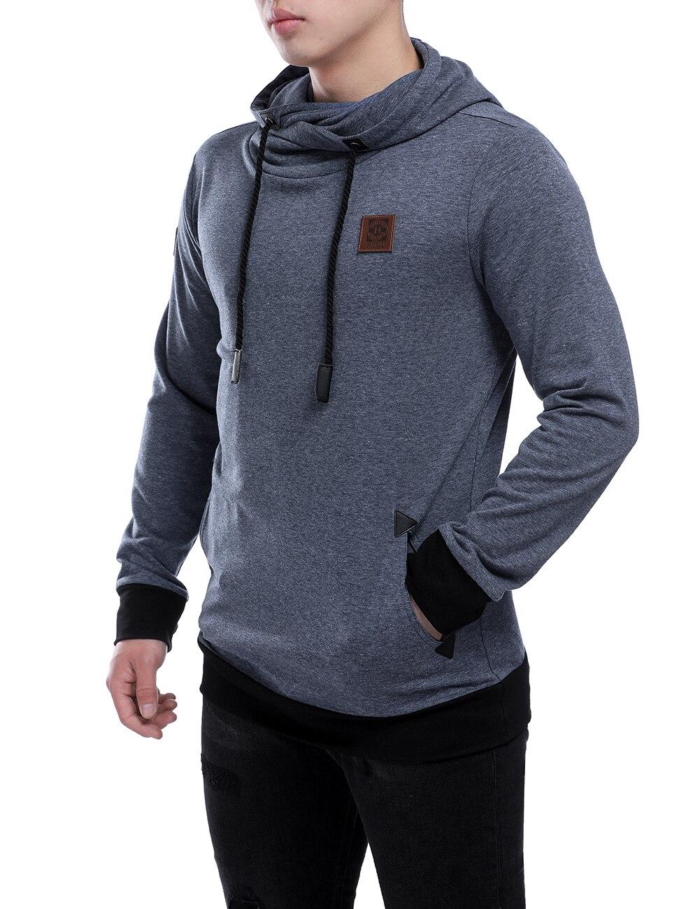 Hoodies Men 2018 Brand Male Long Sleeve Solid Color Hooded Sweatshirt Mens Hoodie Tracksuit Sweat Coat Casual Sportswear