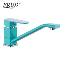 FRUD 1 Set Modern Style Kitchen Sink Faucet 360 Degree Swivel Spray Painting Water Taps Chrome