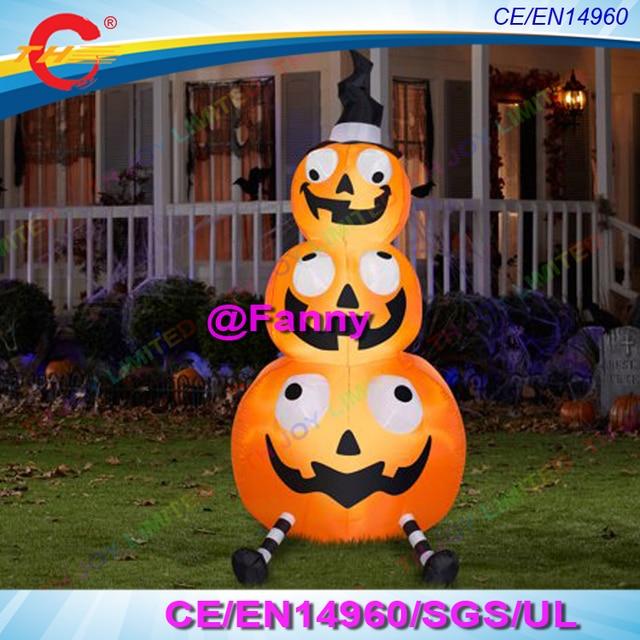 3m4m6m ghost pumpkin halloween decorations led lights inflatable halloween pumpkin outdoor halloween