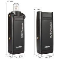 AD200 1 HSS TTL 2.4g/8000 s 2 pcs 200Ws Bolso GODOX Flash de Luz Cabeça de Casal com 2900 mah Bateria De Lítio CD50|Flashes| |  -