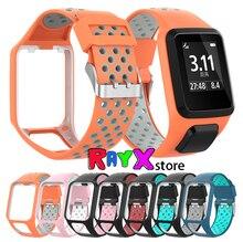Для TomTom Runner 2/3 Spark/3 замена силиконовый ремешок дышащая повязка спортивные часы c GPS Аксессуары