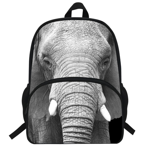30bf29d8117 Inch hot kids dier rugzak olifant print tas voor kids olifant rugzak zoo  animal bag jpg