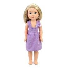 Cute Princess Purple Dress font b Doll b font Accessories Fit 14 Inch font b Doll