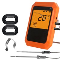 DANIU KCH 520 Six Channel Edition bluetooth Barbecue Thermometer Digital Oven Thermometer with 2 Probe