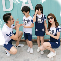 Family Look Outfits Family Matching Clothes Cartoon Tshirts Father Mother Daughter Son Mom Mommy And Me Clothes Dress Couple