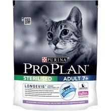 Сухой корм Purina Pro Plan для стерилизованных кошек и кастрированных котов старше 7 лет, с индейкой, 8 упаковок по 400 г
