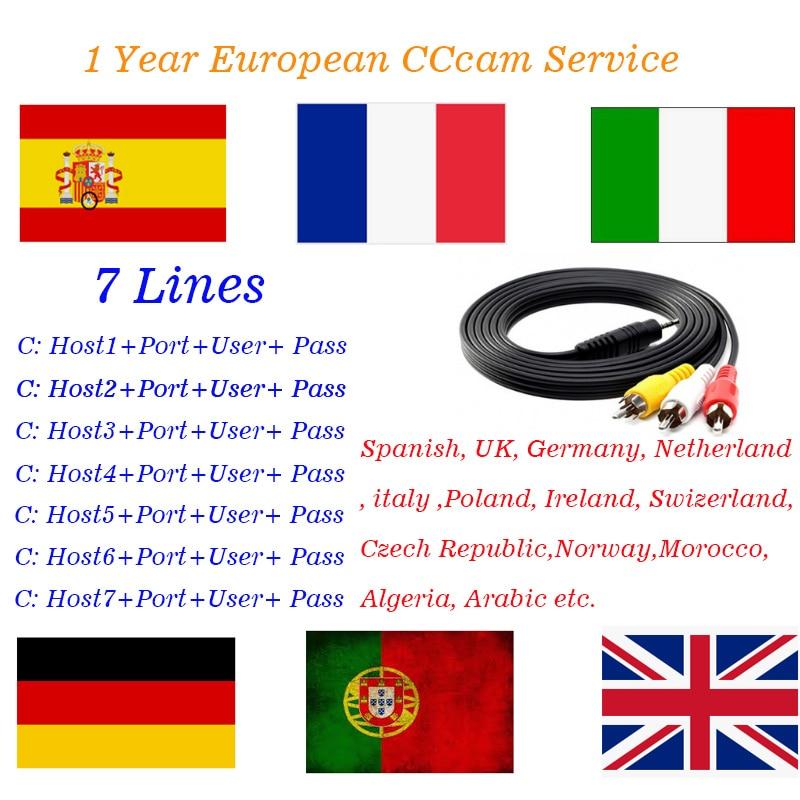 European CCcam 7 Clines for DVB-S2 Satellite Receiver Best CCcam Server for Spain French Portugal Netherland Poland Germany UK