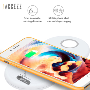 Image 3 - !ACCEZZ 10W 7.5 QI Fast Wireless Charger 3 in 1 For iphone 8 Plus X XS For AirPods For Samsung S7 S8 S9 Universal Phone Chargers