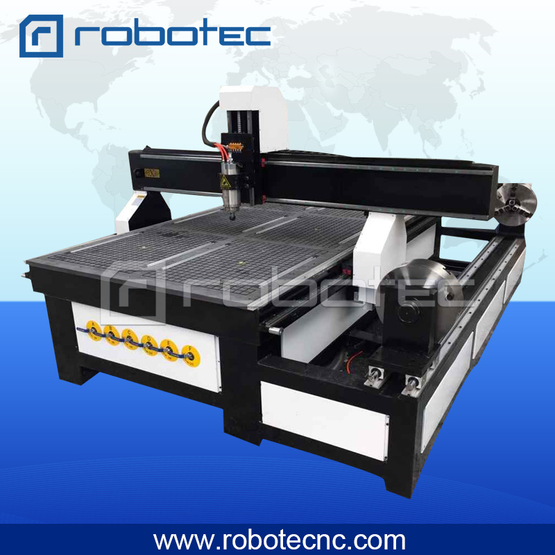 Hot Sale Vacuum Table Woodworking Machines Rotary 4 Axis Cnc Wood