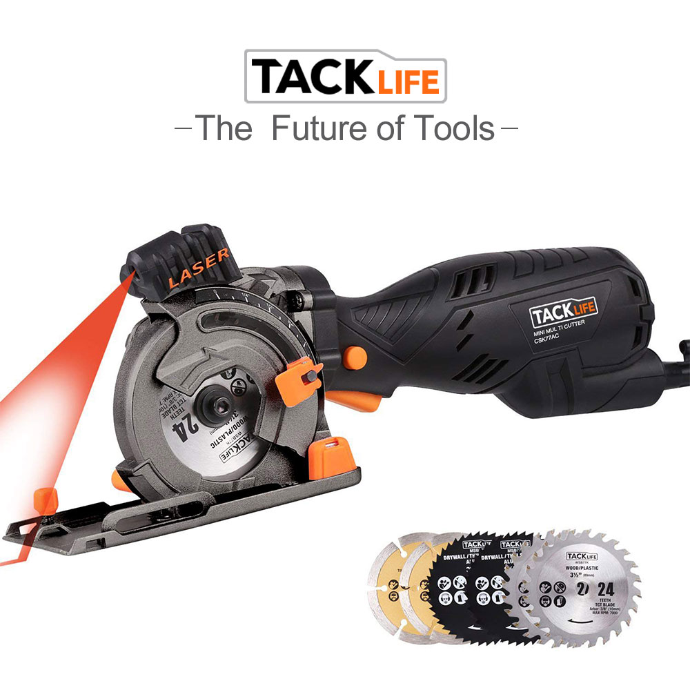 Tacklife Csk77ac Mini Circular Saw With Laser 6 Blades