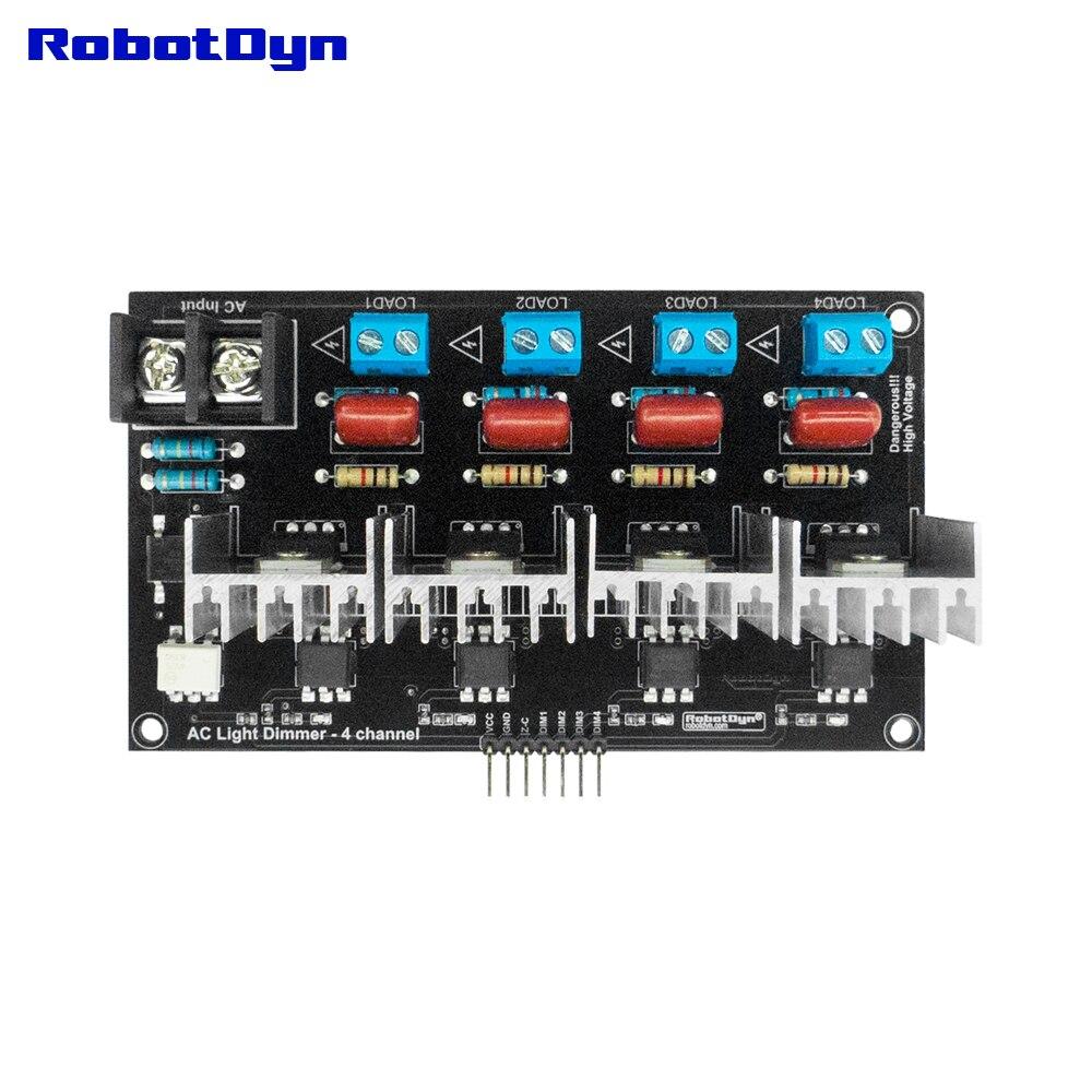 AC Light Dimmer Module, 4 Channel, 3.3V/5V logic, AC 50/60hz, 220V/110V
