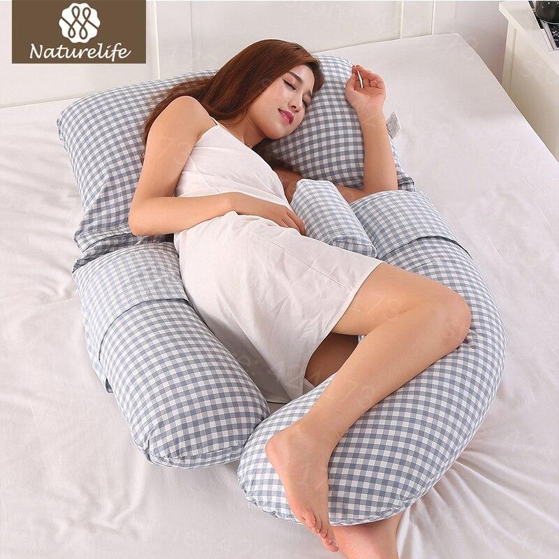 Naturelife Беременность подушка для тела Подушка для беременных женщин Удобная u-образная Подушка Длинная сторона спальный подушки для беременн...