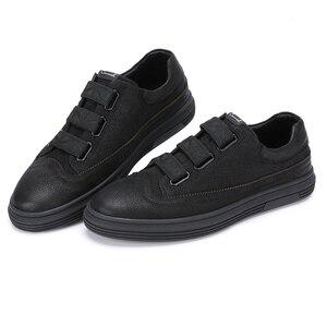 Image 3 - גמל חדש שחור גברים של נעלי עור אמיתי אופנה נעליים יומיומיות גברים מט מגמת בריטי פרא אדם דירות הנעלה