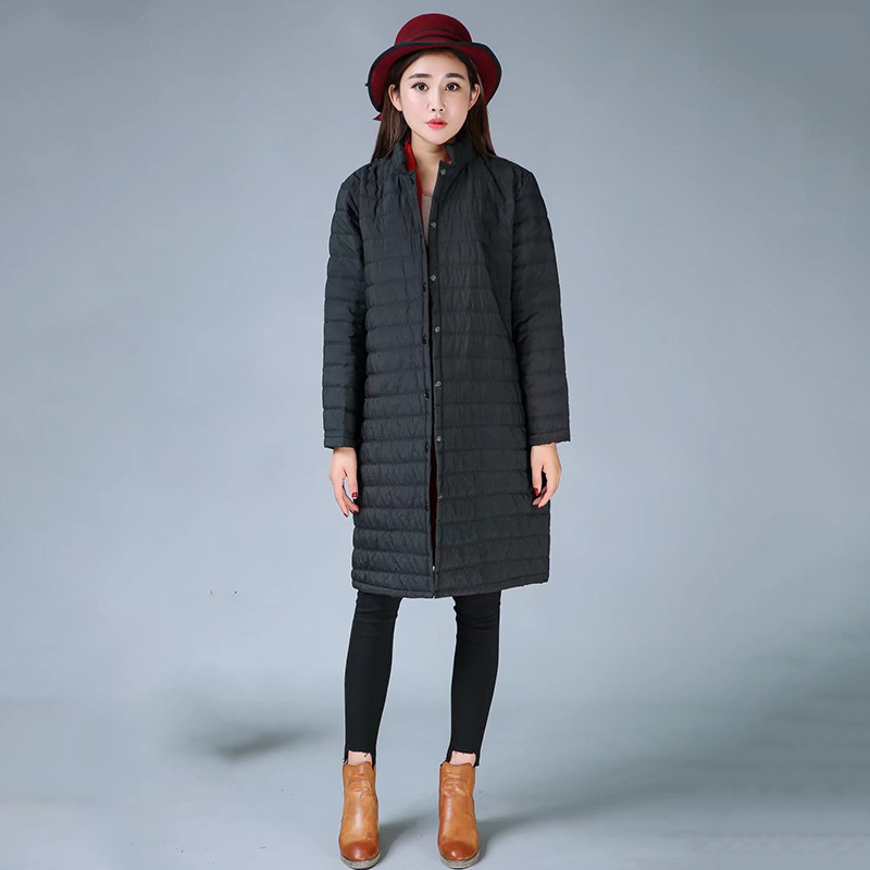 Plus Size Women Thin Quilted   Parkas   Women Long Cotton Padded Jacket Winter Windproof Female Spring Jackets Coats 2019 New LQ106