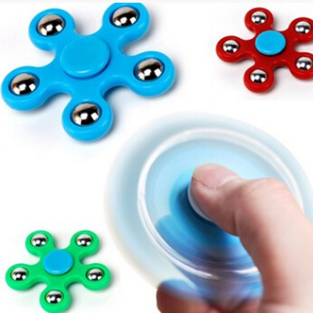 2017 Newest Pentagon Gyro Focus Toy Gifts Color Random Stress Relief Toy Fidget Spinner