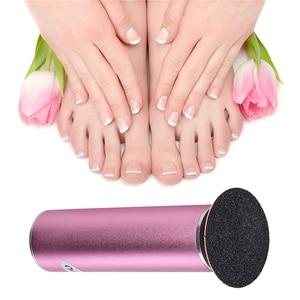 Image 3 - Eliminador de callos eléctrico de aluminio herramienta para el cuidado de los pies, con almohadillas de molienda de 60 uds, para eliminación de piel muerta en el talón, Lima de pedicura