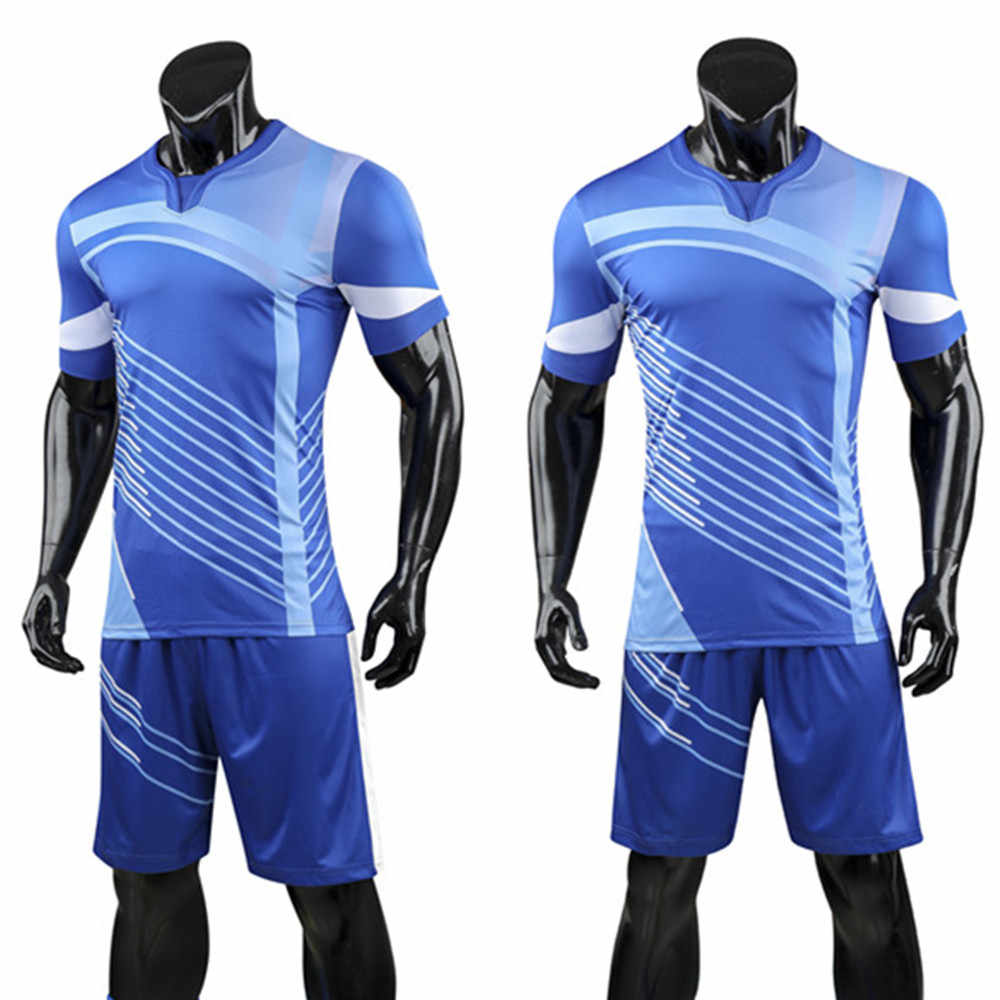 85c8937ac ... New Men Soccer Sets Football Jerseys Shirts Sport Kit Training Suit  Volleyball Uniforms Breathable Custom Pint ...