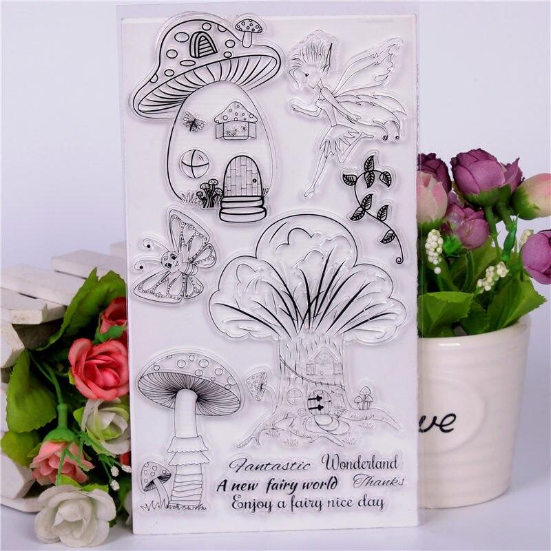 DLKSDIY Cartoon mushroom house duck Transparent Clear Stamp DIY Silicone Seals Scrapbooking / Card Making/Photo Album Decoration