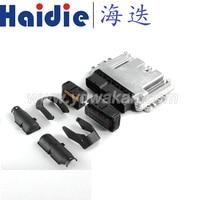 Free shipping 1set 154pin ECU SET Aluminum Enclosure Box and PCB male female ECU auto plug connector with terminals