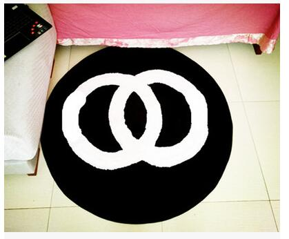 60x60 cm/70x70 cm/80x80 cm créatif chaud rose/noir chambre tapis salon sol tapis rose chaise tapis antidérapant décoration de la maison - 2