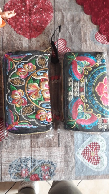 Peacock Thailand Boho Embroidered Purse Female Clutch Long Wallet Coin Bag Lady Mobile Phone Bag Luxury Brand Wallet Woman 2016 photo review