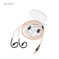 Acrolink IE80 3.5 plug DIY Earphone Pcocc Audio Cable Repair Replacement Headphone with 16 cores knitting